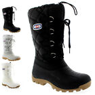 Womens Olang Fantasy Lace Up Winter Snow Warm Quilted Mid Calf Boots UK 2.5-8