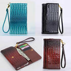 Luxury CROCO pattern leather case cover sheld wallet flip For ICEMOBILE Allview