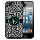 PERSONALIZED RUBBER CASE FOR iPHONE 6 6s 7 PLUS BLACK PAISLEY