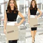 Elegant Women OL Contrast Bodycon Office Business Party Cocktail Pencil Dresses