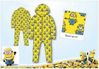 Kids Boys Girls Minions Despicable Me Onesie Pyjamas All in One Sleepsuit 7-12