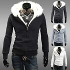 Men Winter Warm~ HOT Hoodie Fur Lined Hooded STYLE Sweatshirt Coat Jumper Jacket