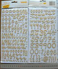 Letter&Number WOODGRAINChpbrdTHICKER Sticker 4 Varieties 15-40mm high  MultiList