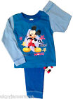 Babies Baby Boys Disney Mickey Mouse Pyjamas Nightwear Snuggle 1 2 3 4 yrs NEW