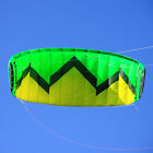 FREE POSTAGE 3m² Green Quad Lines Power Trainer Kite For Beginner Ready to Fly