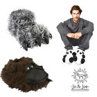 New Mens Slippers Novelty Panda Monkey Funky Slippers  Sizes UK 7 8 9 10 11 12