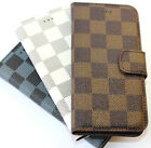 for iPhone 6 / 6S - Leather Credit Card Wallet Stand Case Cover PATTERN CHECKER