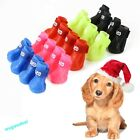 Dog Candy Colors Boots Waterproof Protective Rubber Pet Rain Shoes Booties