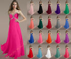 New 20 Colours Evening Dresses Prom Bridesmaid Gown Party Formal Cocktail Dress