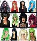 Ladies HALLOWEEN Fancy Dress Costume WIGS Witch Vampire Devil Cat Ghost Doll WIG
