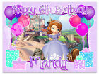 Sofia The First Birthday Edible Image Cake Topper Personalized Icing Sheet Frost