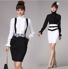 Victorian Womens Long Sleeves Tops Fashion High Neck Frilly Ruffle Shirt Blouse