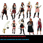 LADIES PIRATE CARIBBEAN COSTUMES FANCY DRESS OUTFITS WOMEN