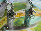 UNICORN TEARS PENDANT CHARM NECKLACE GLASS BOTTLE VIAL ORGANZA SILVER LILAC BLUE