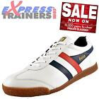 Gola Classics Mens Harrier Premium Leather Retro Trainers White * AUTHENTIC *