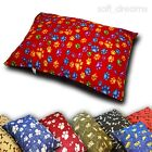 Large or Extra Large Dog Pet Bed/Snuggle Pillow Zip Cover or with Pad.