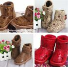 Child Girl Boys Winter Warm Furry Lined Snow Ankle Boots Cotton Shoes Pretty -Z