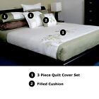 100% Cotton MISAKI Embroidery Quilt Doona Duvet Cover Set QUEEN KING or CUSHION