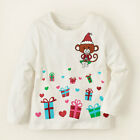 The Childrens Place SANTA MONKEY PRESENTS Shimmer Girls Holiday Tee T-Shirt NWT