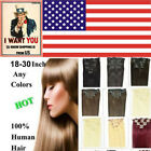 "Straight Remy 24"" 26'' 28'' 30'' 7pcs 120g Clip In Human Hair Extensions,In US"