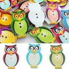 50/100Pcs Mixed Wooden Owl Buttons Charms 2 Holes Sewing Scrapbooking Cardmaking