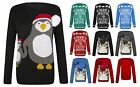 WOMENS PENGUIN CHRISTMAS NOVELTY PULLOVER SANTA SNOW SWEATSHIRT JUMPER XMAS TOP