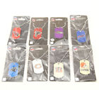 NFL Football Team Licensed Glitter Dog Tag Pendant Necklace on eBay