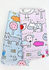 Animal pam 100% Cotton Fabric Farm Animals Cats dogs Children Quilting (ffF122)