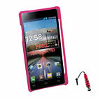 Plastic Hard Back Cover Case for LG Optimus 4X HD P880 + Stylus Red