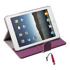 Lichi Pattern PU Leather Stand Hard Back Cover Case for iPad mini +Stylus R