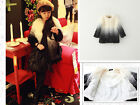 2102 Boutique Super Pretty Ladylike Gradient Color Faux Fur Full Lined Coat