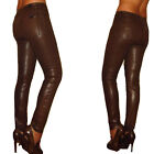 $198 Seven 7 For All Mankind Skinny Jeans Higher Bronze Brown Leather-Look 24-31