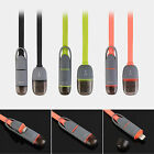New Double Multi USB Charging Cable 2in1 for Both Samsung & Apple Smartphone