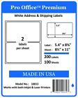 Pro Office Premium Self-Adhesive Blank Round Corner Shipping Labels FedEx 8.5x11