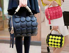 New Fashion Womens Handbags buttons decorated Ghost Tassel Platinum Totes bag