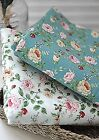 BY HALF YARD Floral roses 100% Cotton Fabric Remnants Rose Flowers fft085+