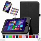 "Leather Case Cover/Pen/Film For 7"" HP Stream 7 5701 Windows 8.1 Win8 Tablet DZB"
