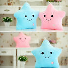 LED Star Shaped Glowing Pillow Light Up Soft Cosy Relax Cushion Pink Blue