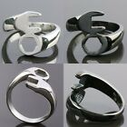 Unisex Stainless Steel Wrench Spanner Silver/Black Finger Ring Jewelry