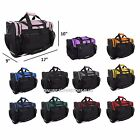 "DALIX 17"" Duffle Duffel Bag Sports Workout Gym Pink Red Black Blue Gold Gray"