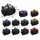 "DALIX 17"" Duffle Duffel Bag Sports Gym Pink Red Black Blue Gold Gray Green"