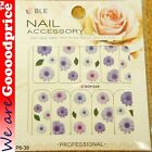 Color Printing Water Tranfer Nail Art Stickers Gift Purple Sun Flower Style 6-38
