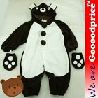 Baby Costume Bear Brown Romper Unisex Jumpsuit Birthday Party Halloween Xmas