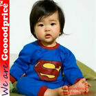Baby Child kids Halloween Party Costume Superman with size guide (0-6 months)
