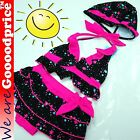 Baby Child Bathing Swimwear 3 Pieces Suit Girl's bikini Custom Pink Star Style