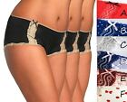 3 Pairs Lace Trim Cotton Hipster Brief Size 12 16