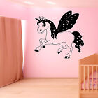 UNICORN FAIRYTALE WALL ART STICKER GIRLS BEDROOM VINYL DECAL DISNEY BEDROOM