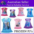 Girls Disney Pyjamas Pj Nightie Dress Frozen Princess Anna Elsa - Many Designs