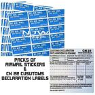 SELF ADHESIVE CUSTOMS DECLARATION LABEL  & AIRMAIL STICKERS various quantities
