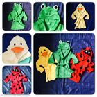 Baby Animal Super Soft Towelling Robe Dressing Gown Bath Beach Swimming Towel